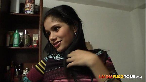 Real Colombian Amateur Teen Gets a Surprise Facial