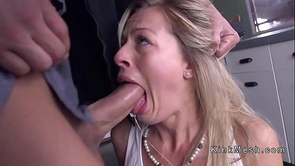 Sweat blonde anal fucked in bondage