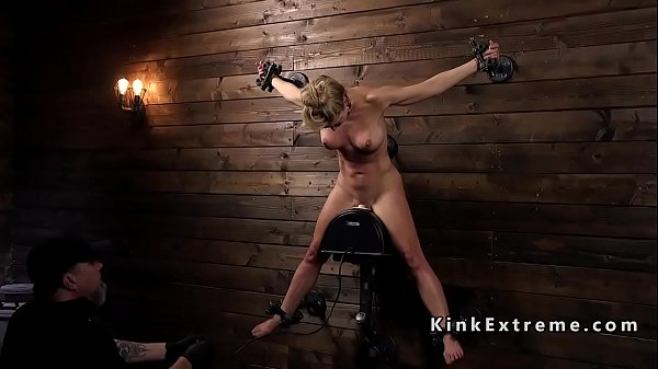 Wet Milf in bondage electro shocked