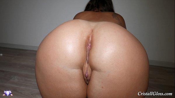 Big Ass Fucking Dildo and Cum – Cristall Gloss