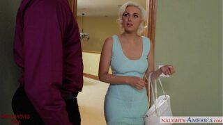 Blonde wife in stockings Jenna Ivory fucking