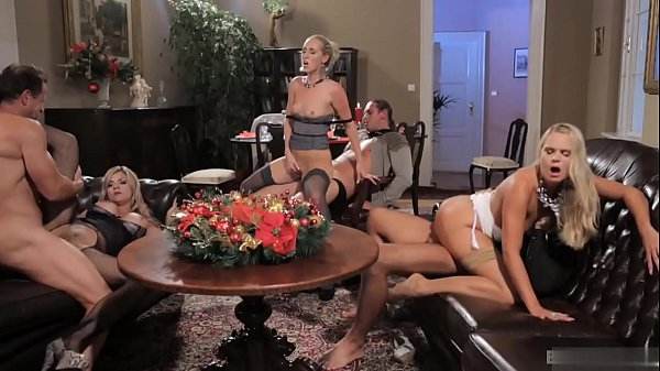 Brilliant babes are fucked hard in group