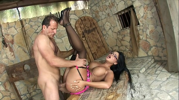 Huge cock fills up the wet pussy on sexy nerd girl with massive breasts Angelica Heart
