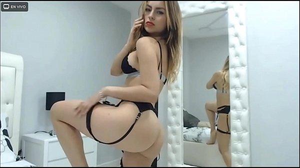 Modelo webcam latina con lencería negra muy sexy- samanthabunny