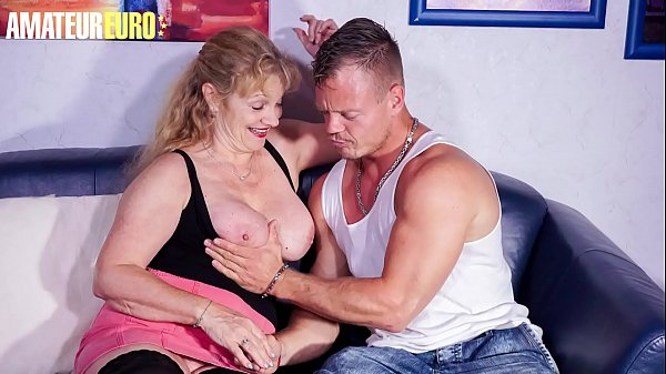 AMATEUR EURO – #Yvonne #Bodo – Crazy German Granny Fucks With Young Boy At Her Place