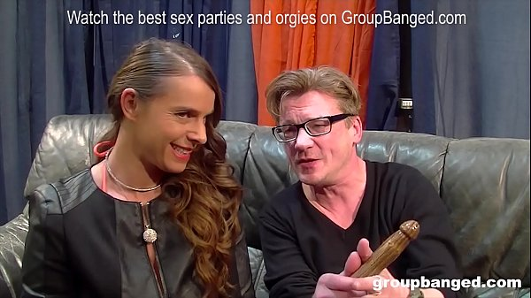 Amazing german milf model enjoys getting fucked by everybody in a gangbang