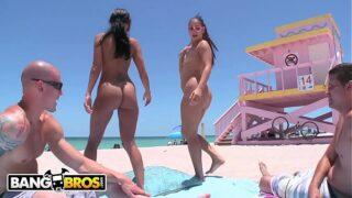 BANGBROS – Big Booty Latin Freaks Ava Addams & Miss Raquel At The Nude Beach