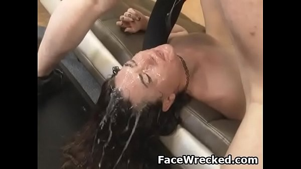 Brunette Kat Monroe Gettng Cock Plunged Down Her Throat