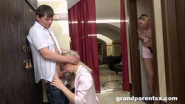 Grandparents Caught Invite Teen to Fuck