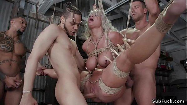 Huge tits MILF group sex bdsm