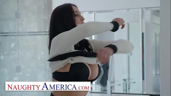 Naughty America – Audrey Bitoni lets her husband's employee test drive her pussy!!