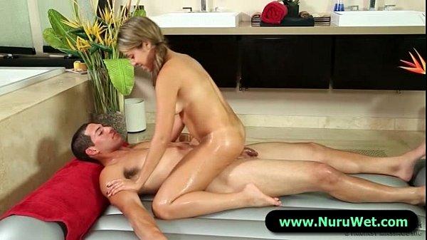 Nuru Massage Slippery Blowjob and Titty Fuck 03