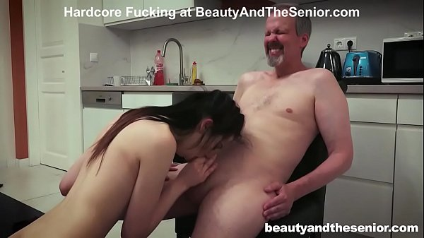 Old Meat Stick covered in Pussy Juice
