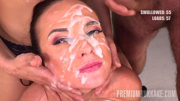 Premium Bukkake – Vinna Reed swallows 68 huge mouthful cum loads