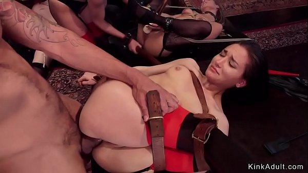 Three sluts anal banged in bdsm orgy