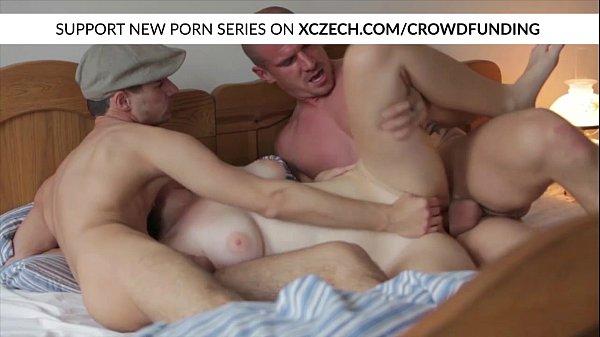 Titty czech girl is fucked by big dicks