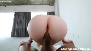 White Girl With Perfect Big Ass Trying To Suck and Fuck The Right Dick To Get Into A Rap Video