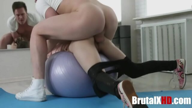 Naive Yoga Babe Brutally FUCKED By A Pervert At Gym